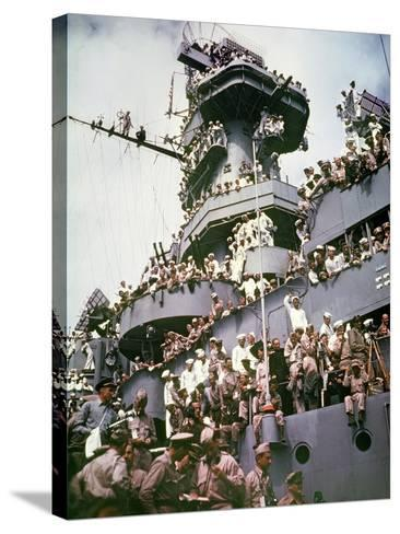 WWII Japan Surrender--Stretched Canvas Print