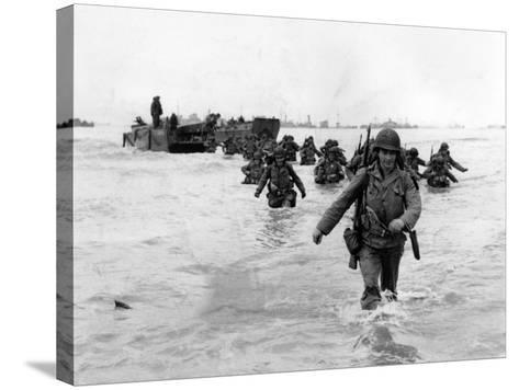 WWII Normandy Invasion-Bert Brandt-Stretched Canvas Print