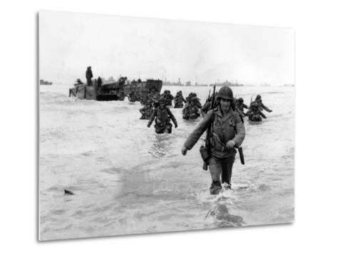 WWII Normandy Invasion-Bert Brandt-Metal Print