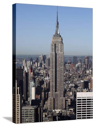 Empire State Building-Richard Drew-Stretched Canvas Print