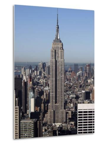 Empire State Building-Richard Drew-Metal Print