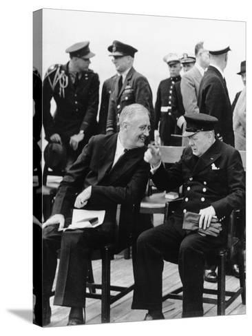 WWII Roosevelt Churchill--Stretched Canvas Print