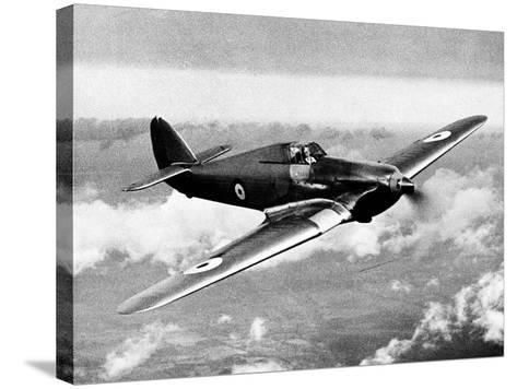 British RAF Hawker Hurricane--Stretched Canvas Print