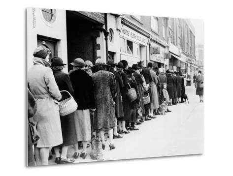 WWII Butcher Shop Line--Metal Print