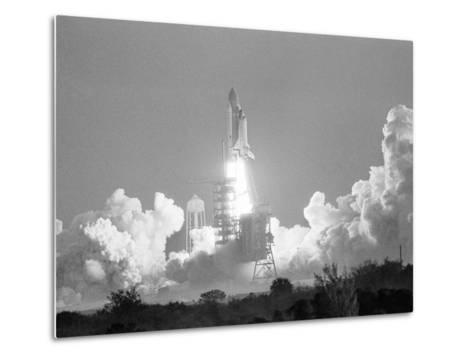 Challenger Liftoff 1984-Glenda Dixon-Metal Print