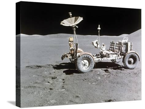 Apollo 15 Moon Surface 1971--Stretched Canvas Print