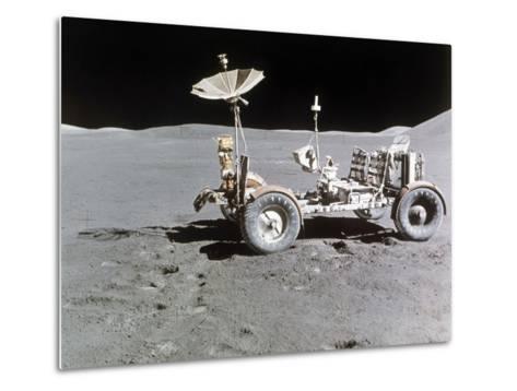 Apollo 15 Moon Surface 1971--Metal Print