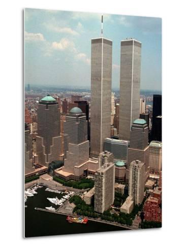 New York Landmarks Twin Towers-Ed Bailey-Metal Print