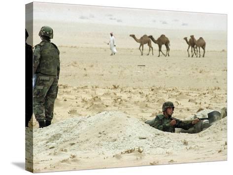 Kuwait US Intervention 1994-Peter Dejong-Stretched Canvas Print