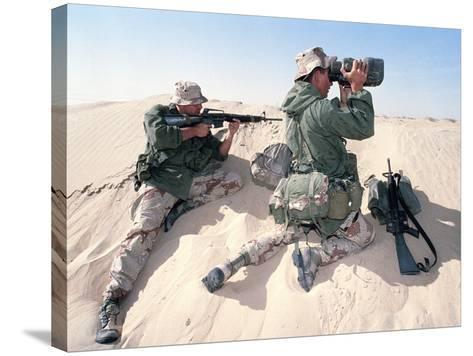 U.S. Marines Saudi Arabia-Dejong-Stretched Canvas Print