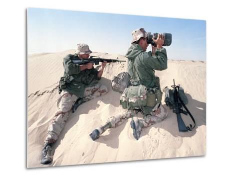 U.S. Marines Saudi Arabia-Dejong-Metal Print