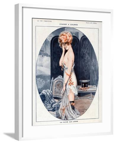 La Vie Parisienne, Maurice Milliere, 1918, France--Framed Art Print