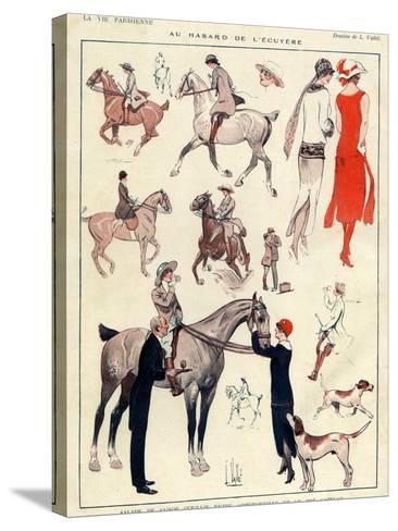 La Vie Parisienne, L Vallet, France--Stretched Canvas Print