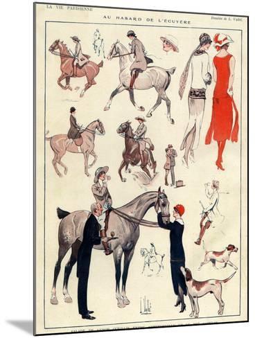 La Vie Parisienne, L Vallet, France--Mounted Giclee Print