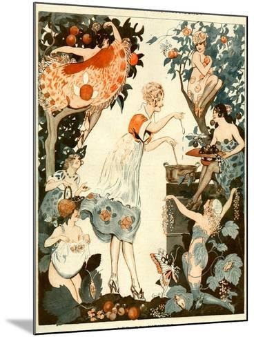 La Vie Parisienne, Vald'es, 1919, France--Mounted Giclee Print