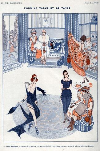 La Vie Parisienne, A Vallee, 19119, France--Stretched Canvas Print