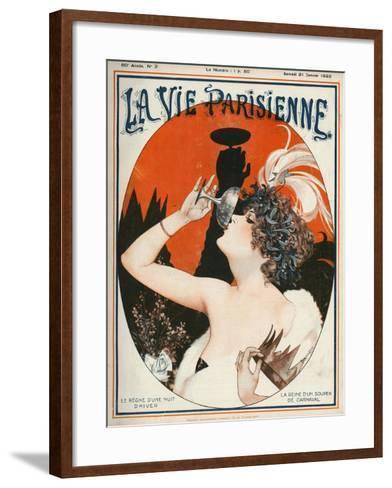 La Vie Parisienne, Cheri Herouard, 1922, France--Framed Art Print