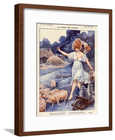 La Vie Parisienne, Maurice Milliere, 1919, France--Framed Art Print