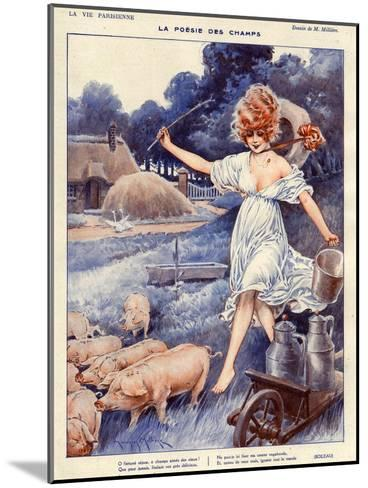 La Vie Parisienne, Maurice Milliere, 1919, France--Mounted Giclee Print