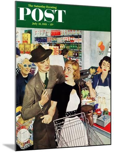 """More Money, Honey"" Saturday Evening Post Cover, July 21, 1951-George Hughes-Mounted Giclee Print"
