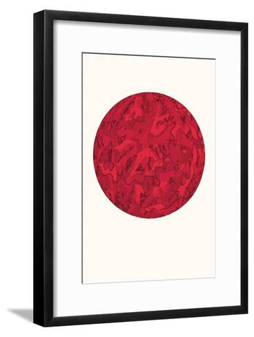 Live Happily Without Worrying-HR-FM-Framed Art Print