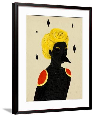 Blackbird-Diela Maharanie-Framed Art Print