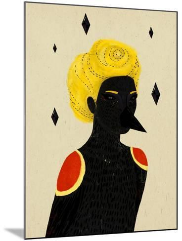 Blackbird-Diela Maharanie-Mounted Art Print