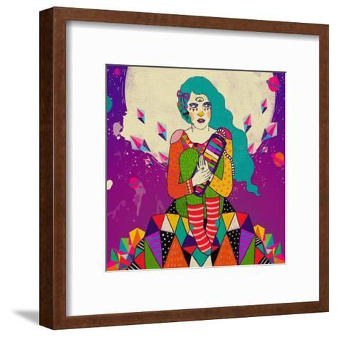 Char-Diela Maharanie-Framed Art Print