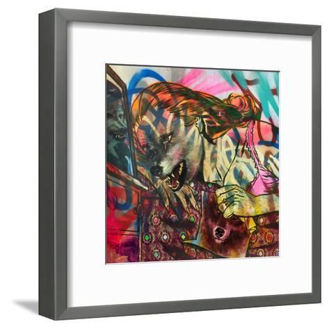 I Am a Wolf-Shark Toof-Framed Art Print