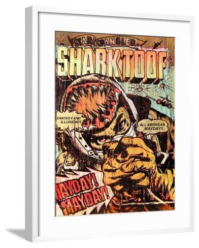 Star Spangled Shark Toof-Shark Toof-Framed Art Print