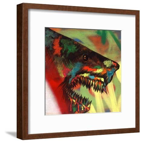 Shark Head Study 1-Shark Toof-Framed Art Print