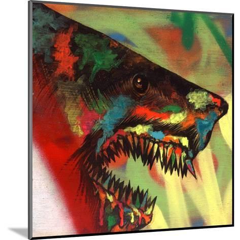 Shark Head Study 1-Shark Toof-Mounted Art Print