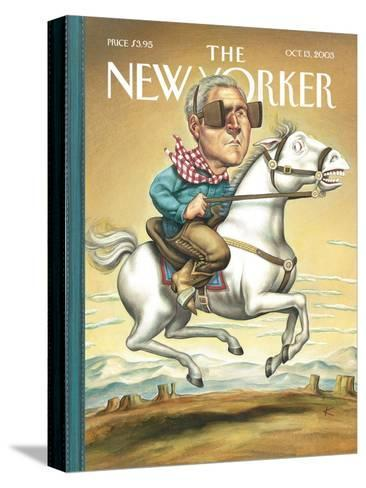 The New Yorker Cover - October 13, 2003-Anita Kunz-Stretched Canvas Print