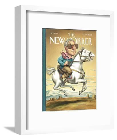 The New Yorker Cover - October 13, 2003-Anita Kunz-Framed Art Print