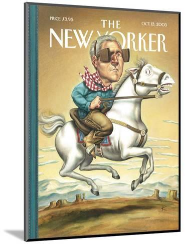 The New Yorker Cover - October 13, 2003-Anita Kunz-Mounted Premium Giclee Print