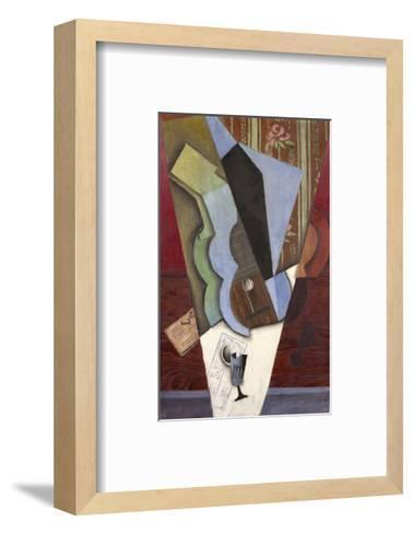 Abstraction (Guitar and Glass), July 1913-Juan Gris-Framed Art Print