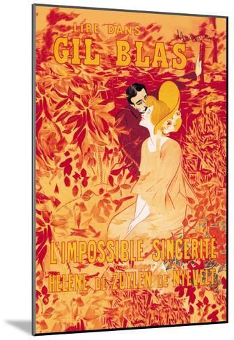 Gil Blas-Leonetto Cappiello-Mounted Art Print