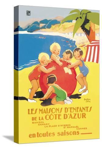 Les Maisons D'Enfants De La Cote D'Azur-Beatrice Mallet-Stretched Canvas Print