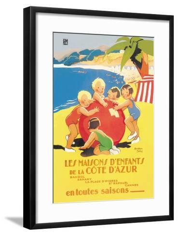 Les Maisons D'Enfants De La Cote D'Azur-Beatrice Mallet-Framed Art Print