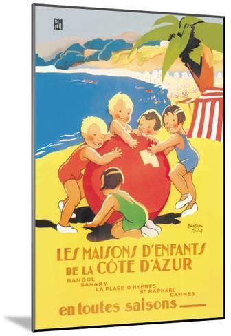Les Maisons D'Enfants De La Cote D'Azur-Beatrice Mallet-Mounted Art Print