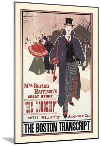 His Lordship-Louis John Rhead-Mounted Art Print