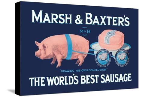 Marsh and Baxter's World's Best Sausage-Simon-Stretched Canvas Print