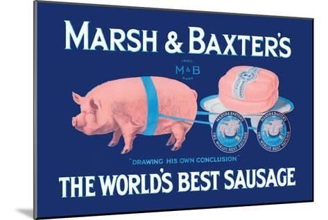 Marsh and Baxter's World's Best Sausage-Simon-Mounted Art Print
