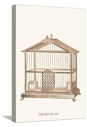 Ornate Brown Bird Cage C--Stretched Canvas Print