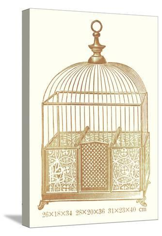 Ornate Brown Bird Cage I--Stretched Canvas Print