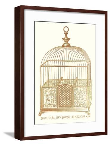 Ornate Brown Bird Cage I--Framed Art Print