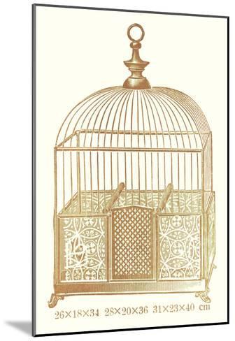 Ornate Brown Bird Cage I--Mounted Art Print