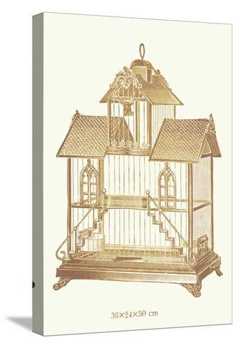 Ornate Brown Bird Cage K--Stretched Canvas Print