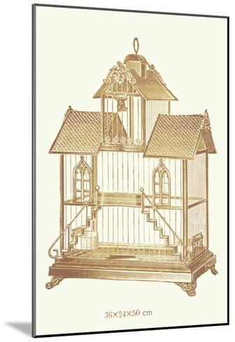 Ornate Brown Bird Cage K--Mounted Art Print