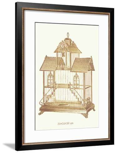 Ornate Brown Bird Cage K--Framed Art Print